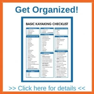 Basic Kayaking Checklist